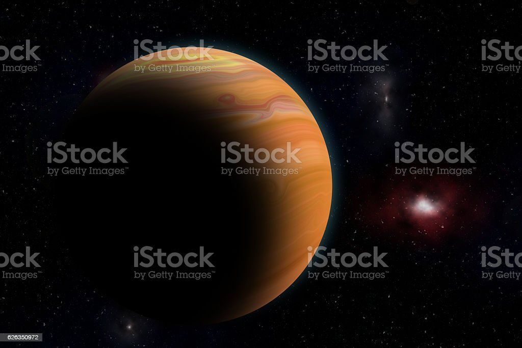 The Jupiter from space stock photo