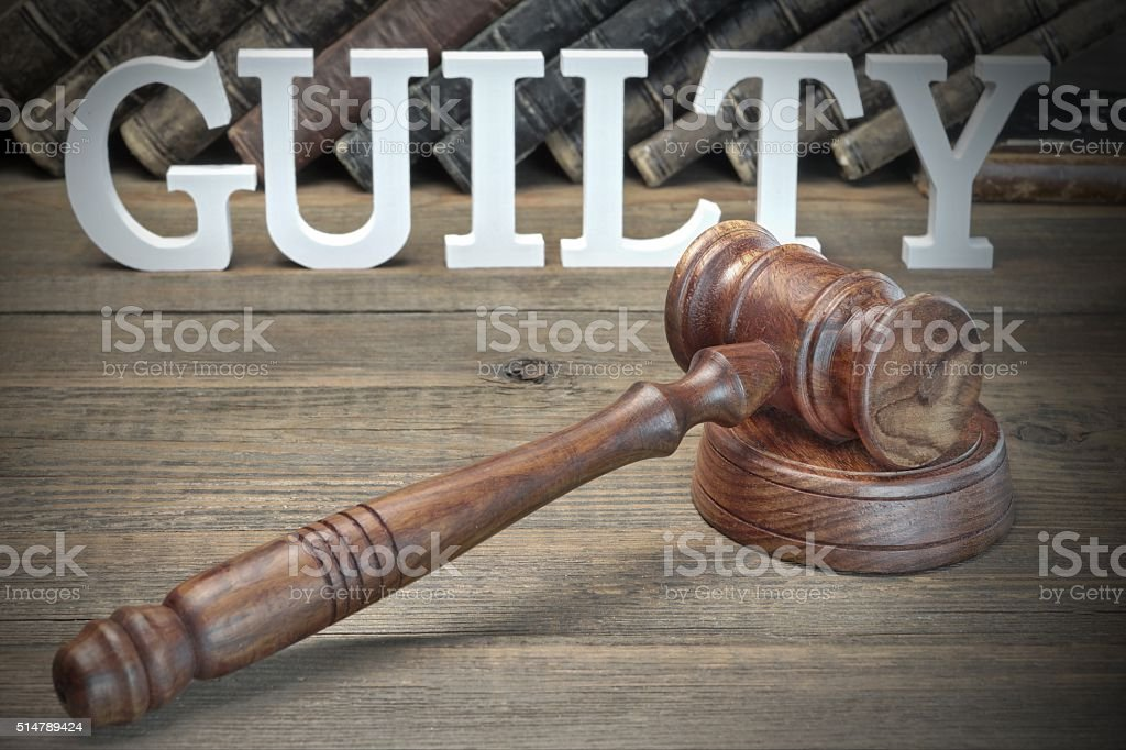 The Jury Verdict Concept stock photo