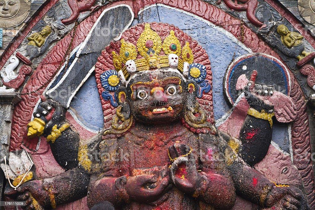 The Kali Goddess royalty-free stock photo