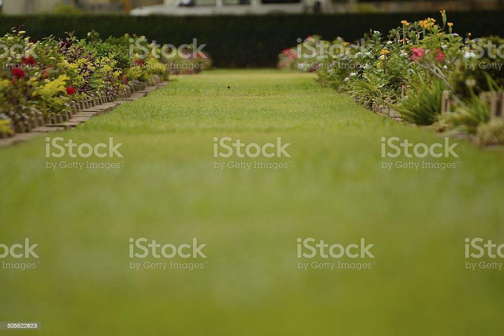 The Kanchanaburi War Cemetery stock photo