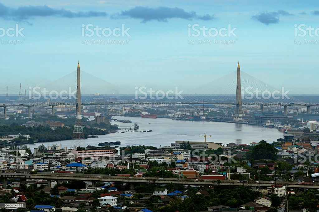 The Kanchanaphisek Bridge stock photo