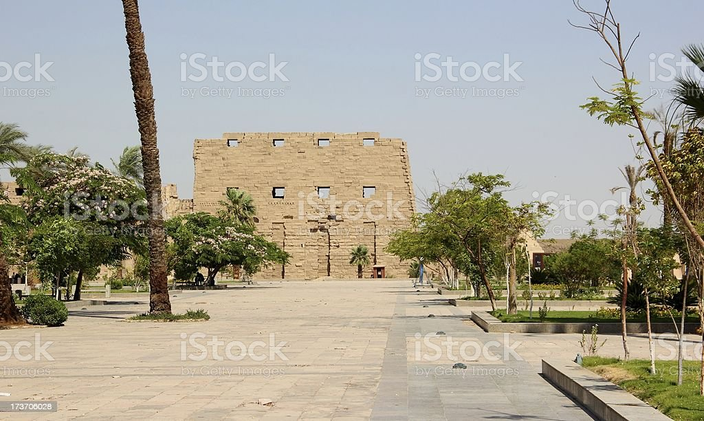 The Karnak Temple Complex in Luxor, Egypt. royalty-free stock photo