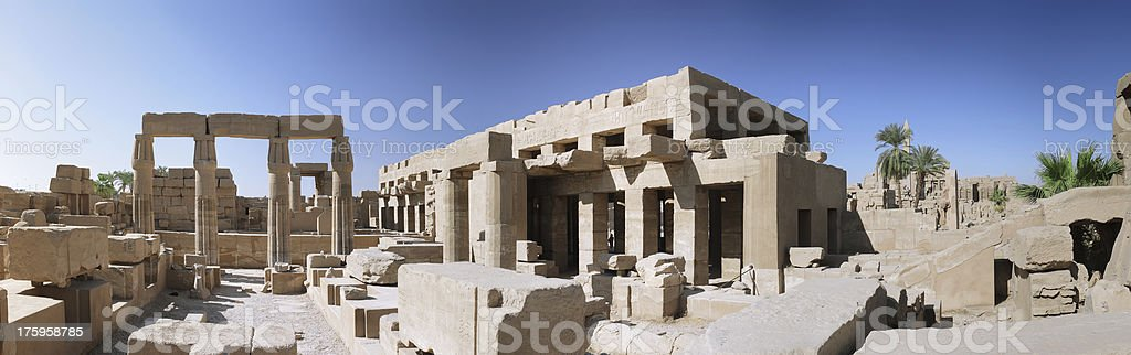 The Karnak Temple , Luxor, Egypt. Panorama stock photo