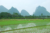 The karst mountains and river scenery