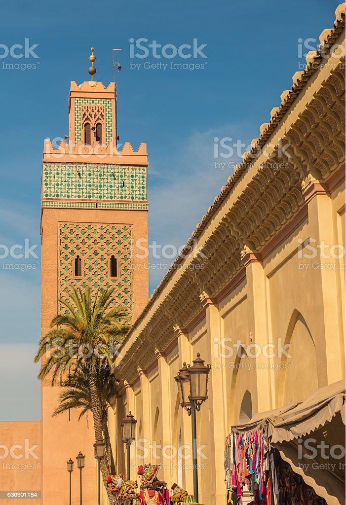 The Kasbah Mosque, Marrakesh, Morocco stock photo