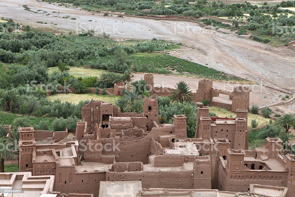 The Kasbah of Ait Benhaddou, Morocco royalty-free stock photo