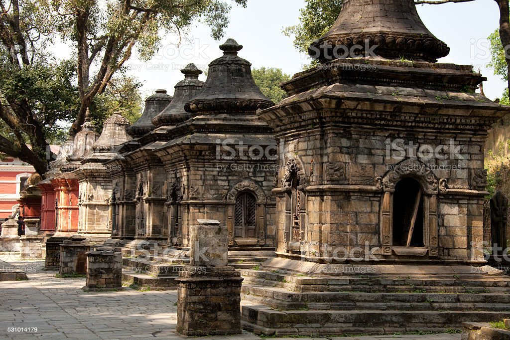 The Kathmandu temple complex of Pashupatinath. stock photo