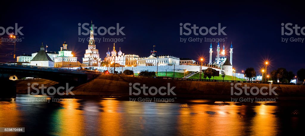 The Kazan Kremlin is the chief historic citadel of Tatarstan stock photo