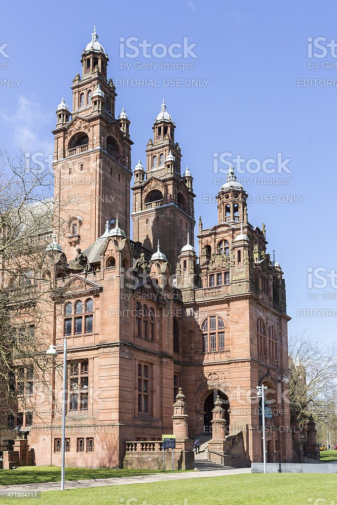 The Kelvingrove Museum and Art Gallery in the UK stock photo