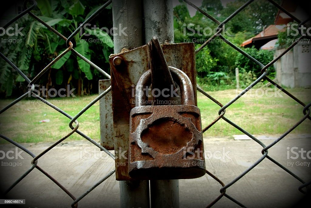 The key for the lock house stock photo