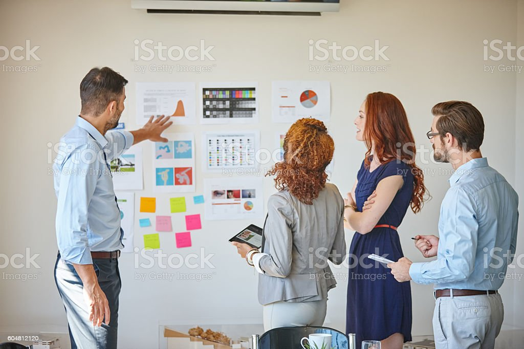 The key ingredients for success - teamwork and planning stock photo