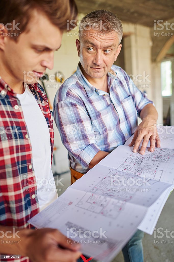 The key is follow by project and plan stock photo