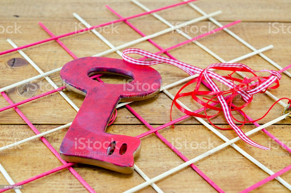 The key to a heart royalty-free stock photo