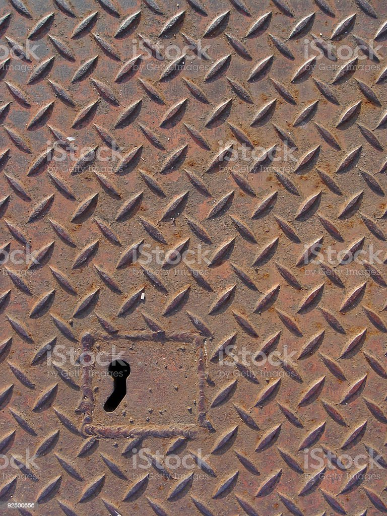 the key to rusted tread 2 stock photo
