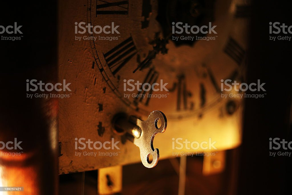 The key to time royalty-free stock photo