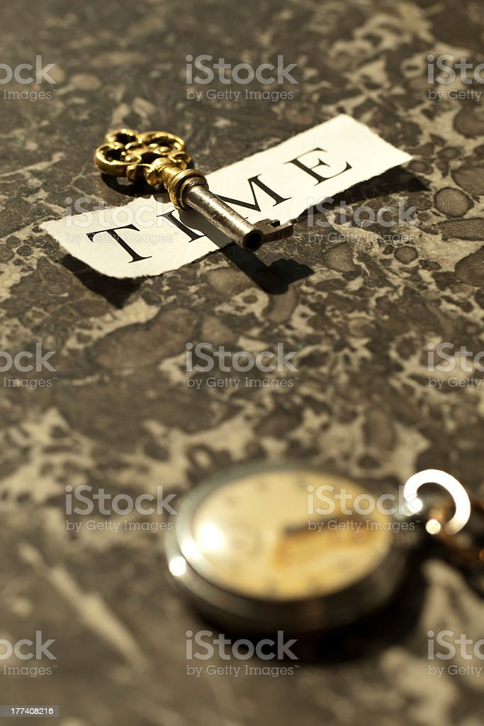 The key to time stock photo