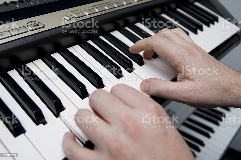The Keyboard Player stock photo