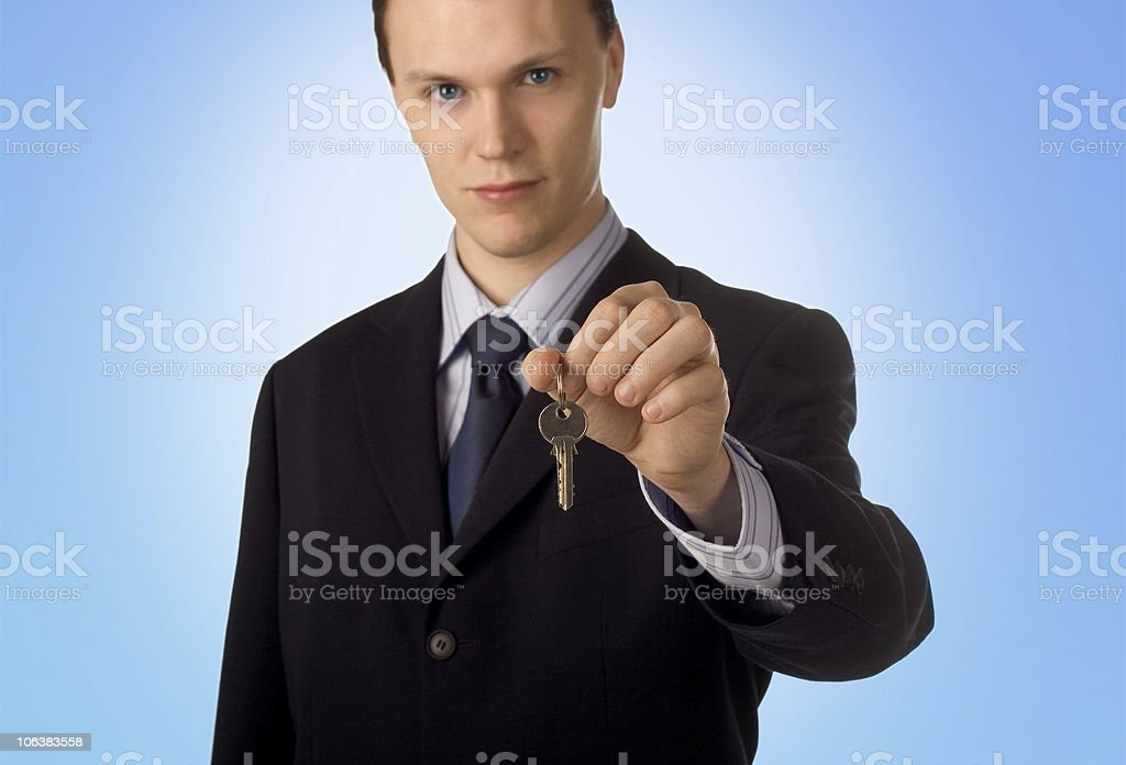 The keys to your new...? royalty-free stock photo