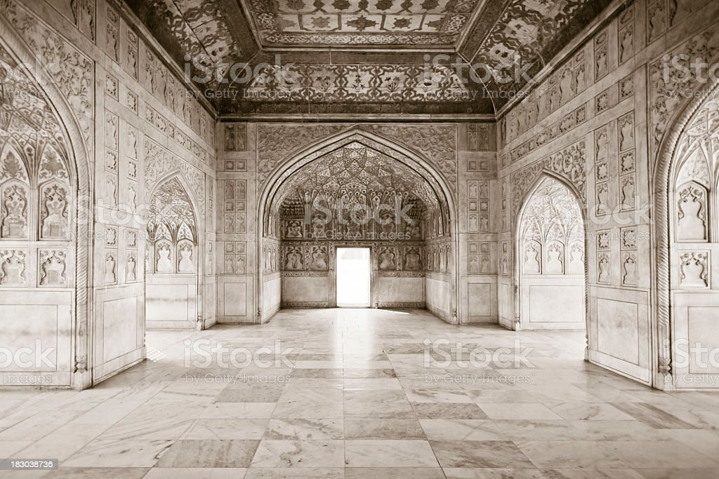 The Khas Mahal - Red Fort Agra stock photo