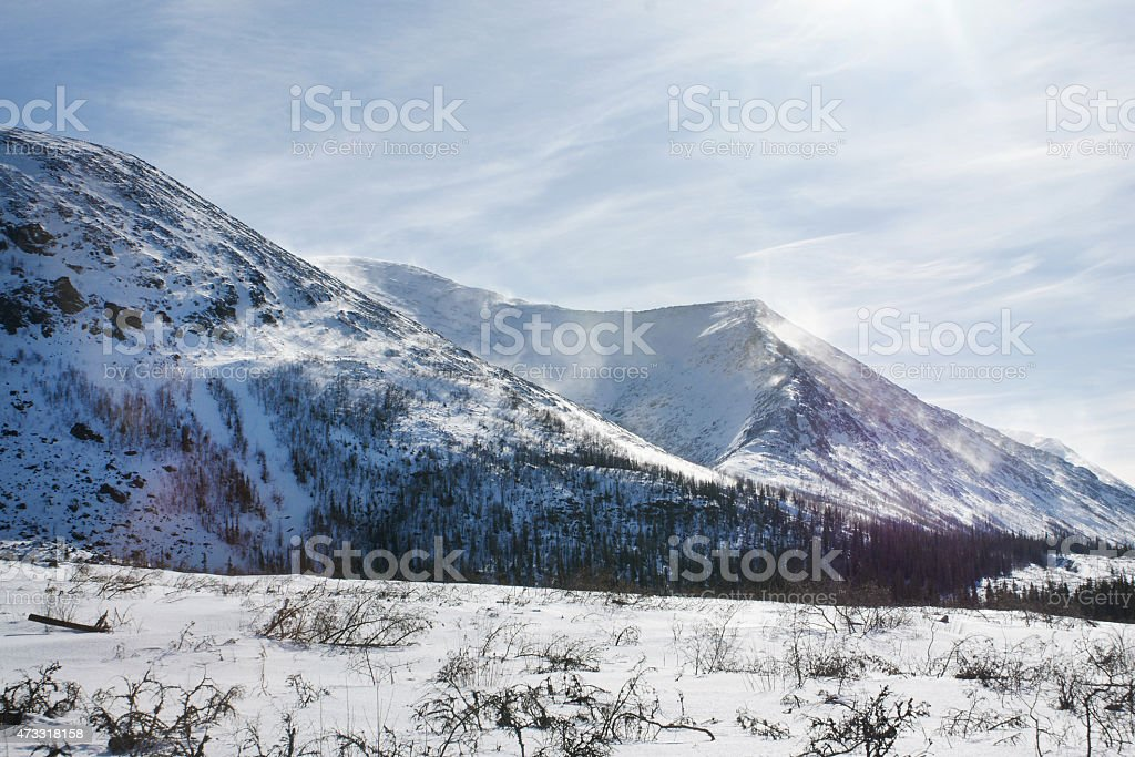 The Khibiny Mountains stock photo