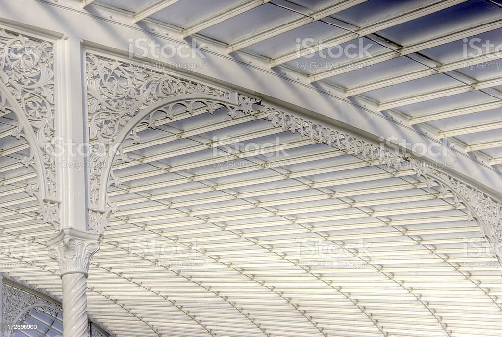 The Kibble Palace - Ironwork Detail royalty-free stock photo