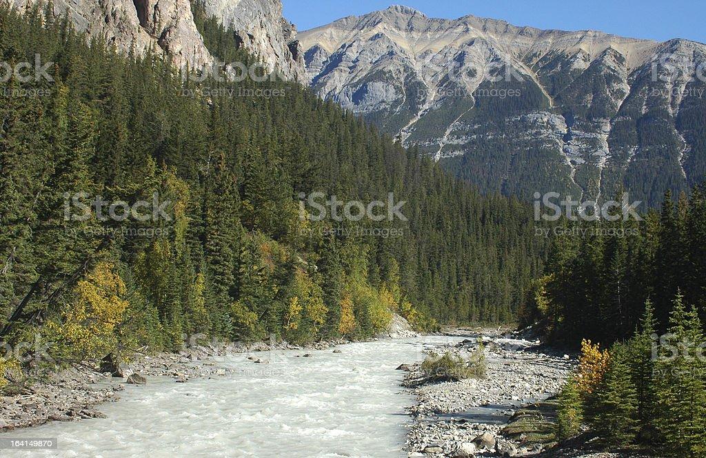 The Kicking Horse River, Yoho National Park Canada stock photo