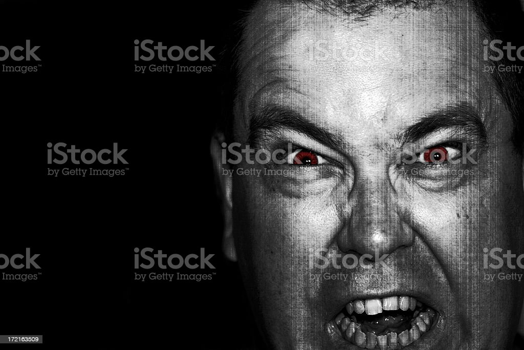 The Killer (Red-Eye and Texture Treatment) stock photo