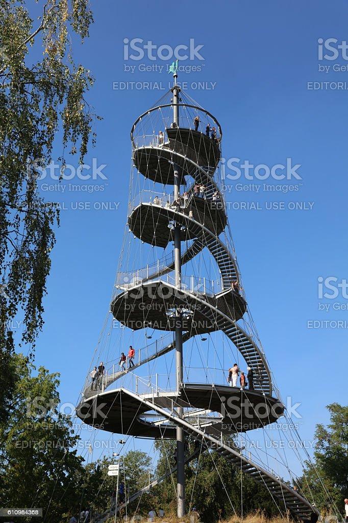 The Killesberg Tower in Stuttgart. Germany stock photo