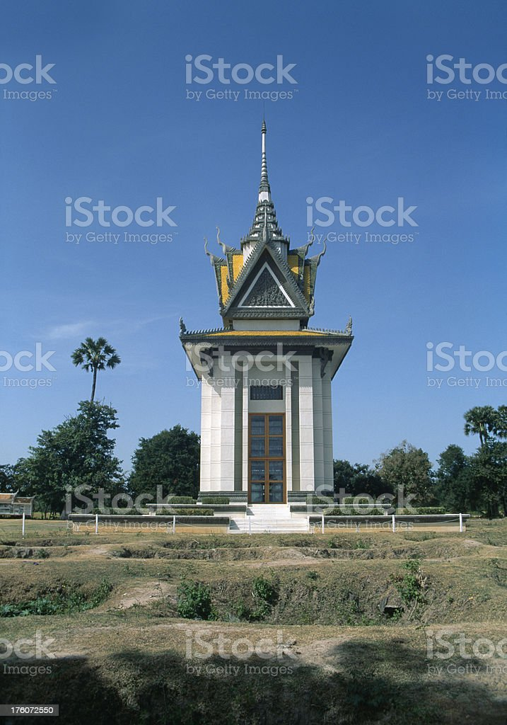 'The Killing Fields, Cambodia' stock photo