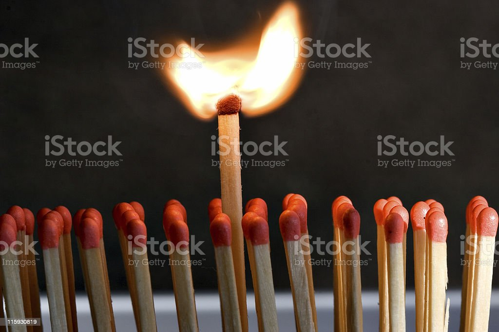 The King of Matches royalty-free stock photo