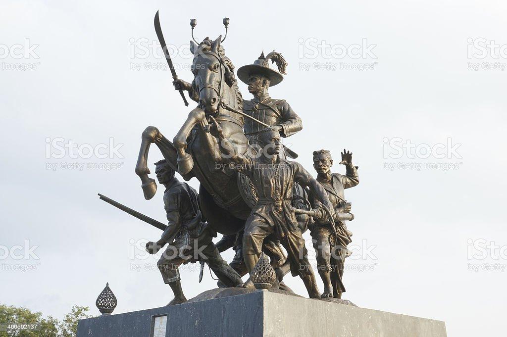 The King Taksin of Thailand stock photo