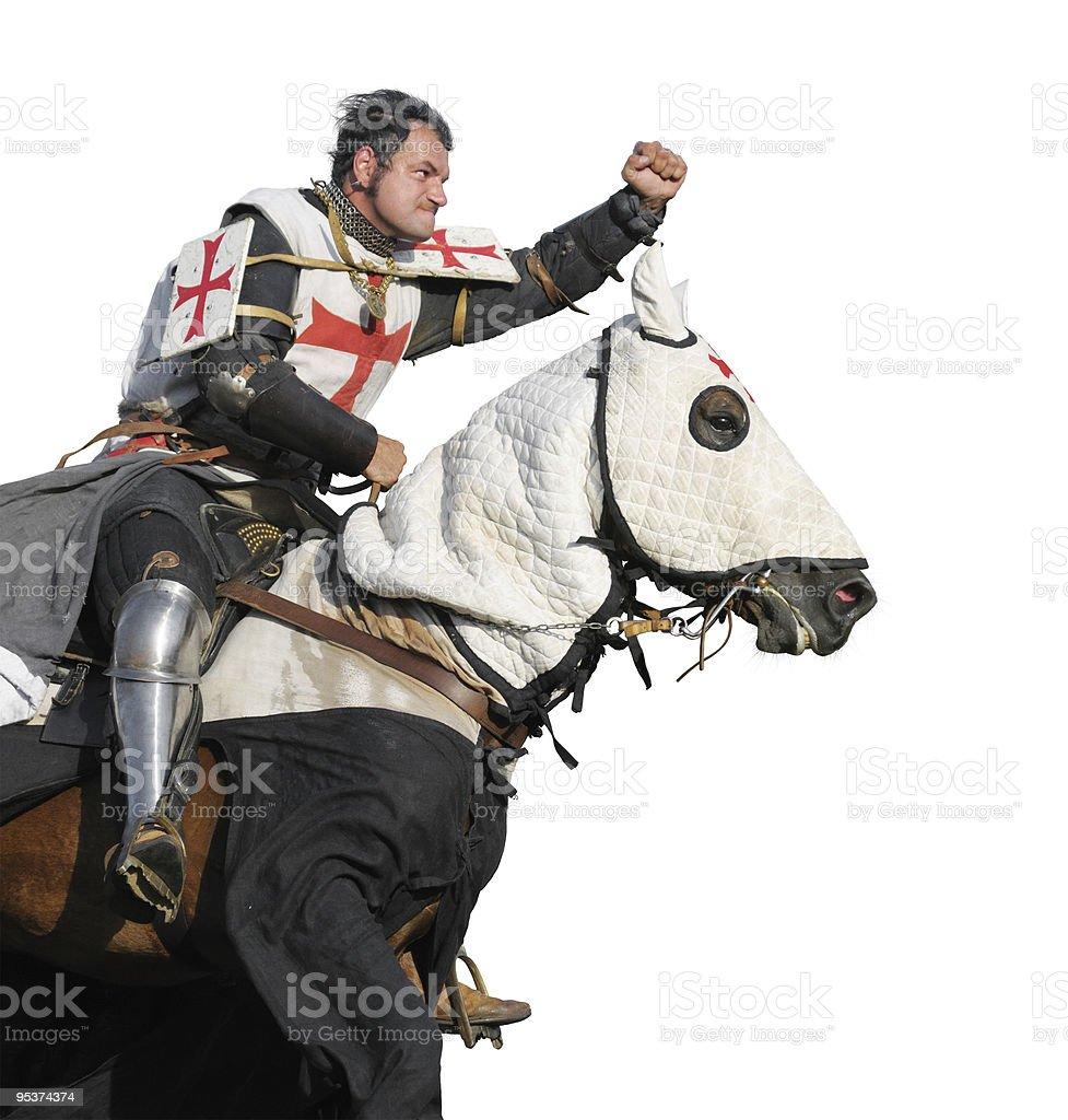 The King Templar stock photo