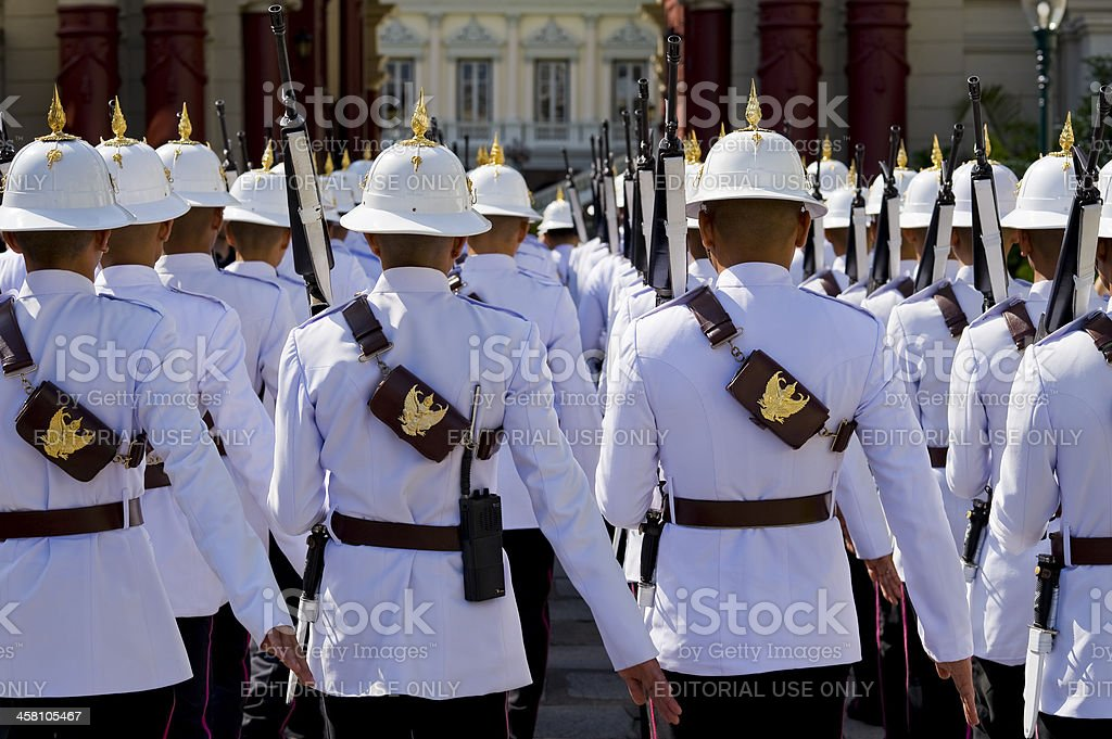 the king's guard in thailand royalty-free stock photo