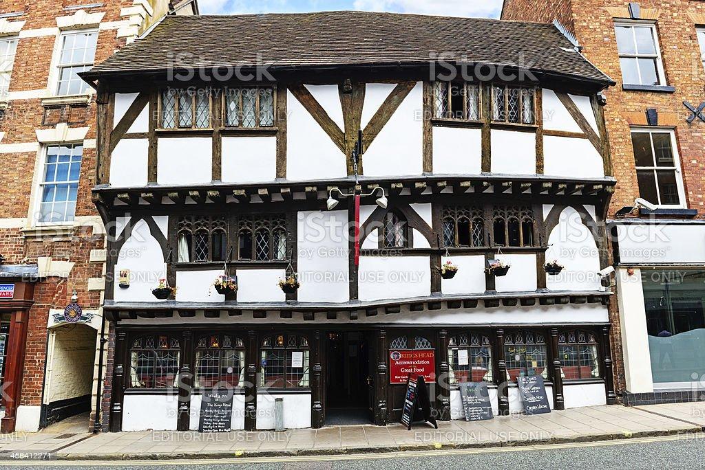 The Kings Head Pub in Shrewsbury royalty-free stock photo