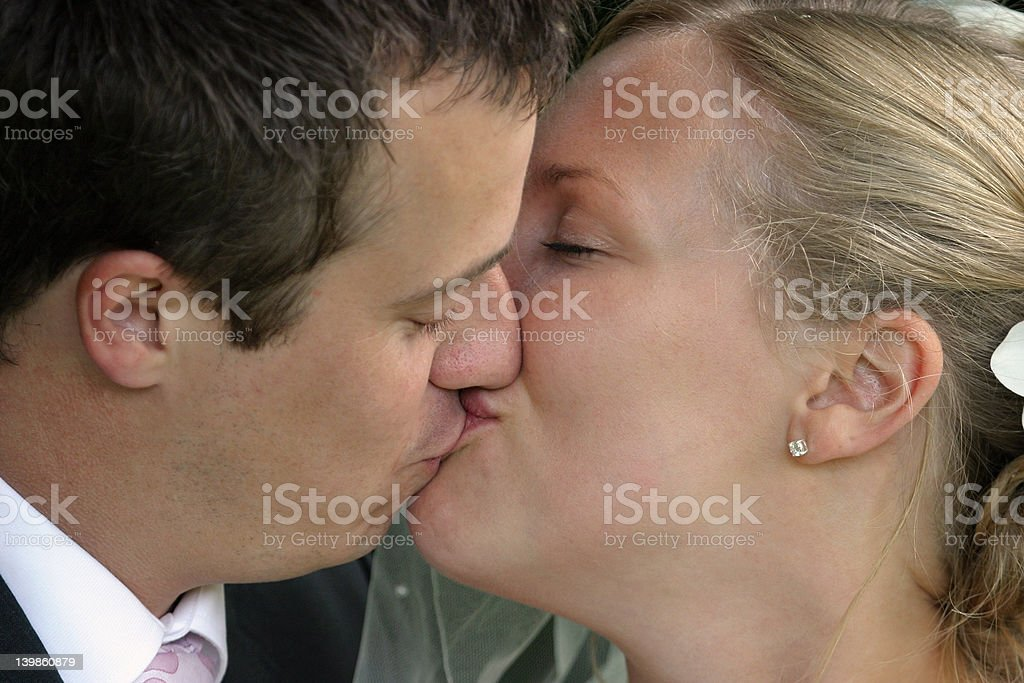 The Kiss royalty-free stock photo