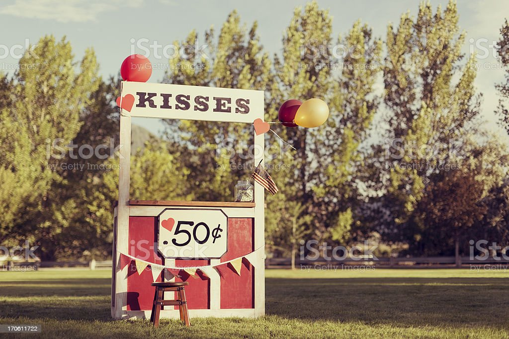 The Kissing Booth stock photo