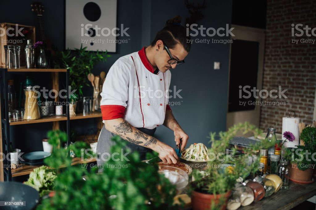 The kitchen is the heart of the home stock photo