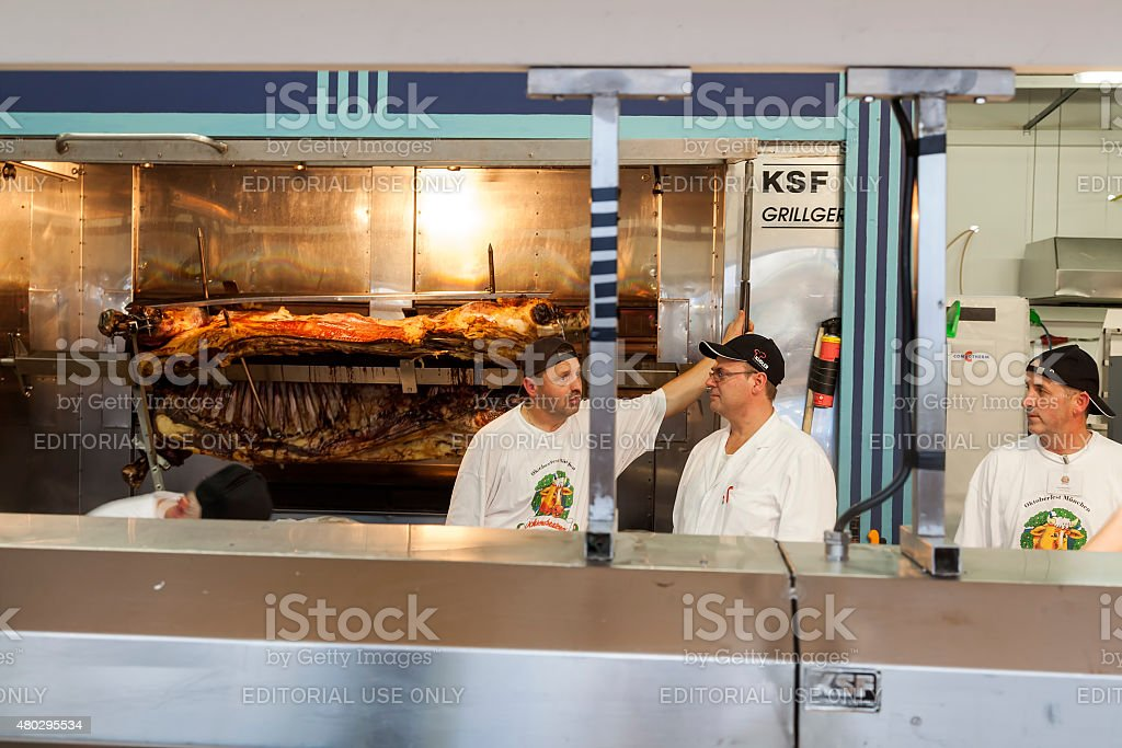 The kitchen staff royalty-free stock photo