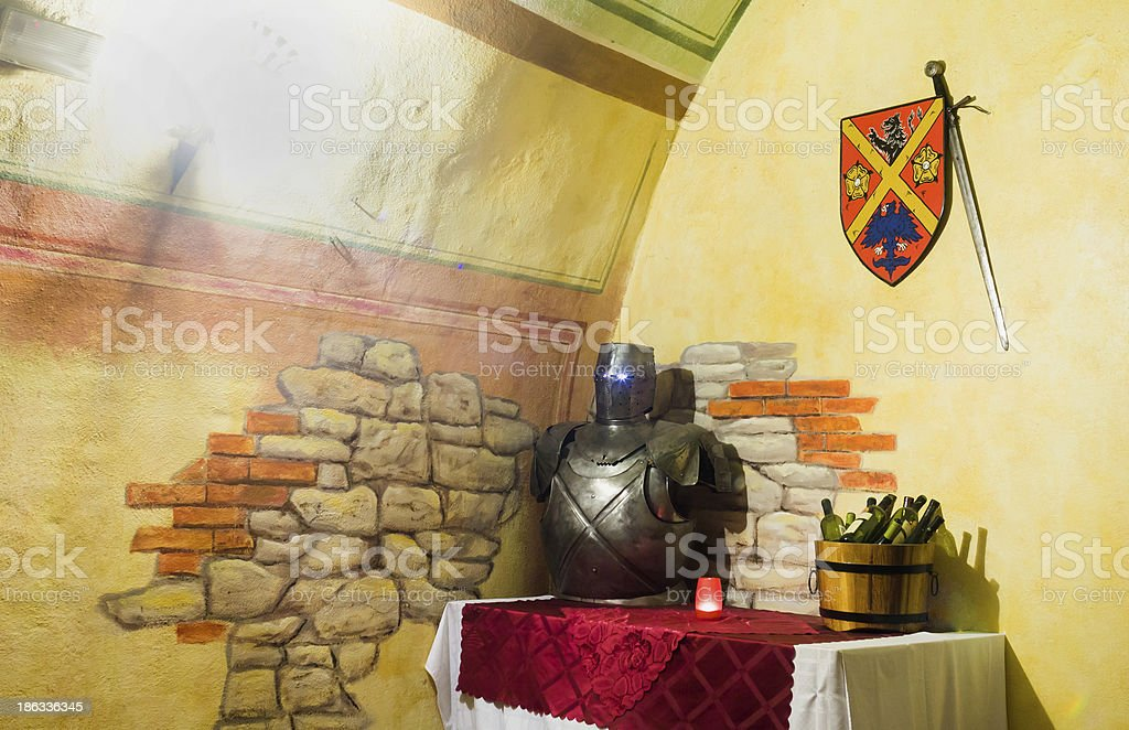 the knight's armor royalty-free stock photo