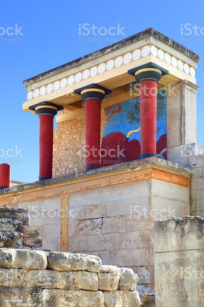 The Knossos Palace stock photo