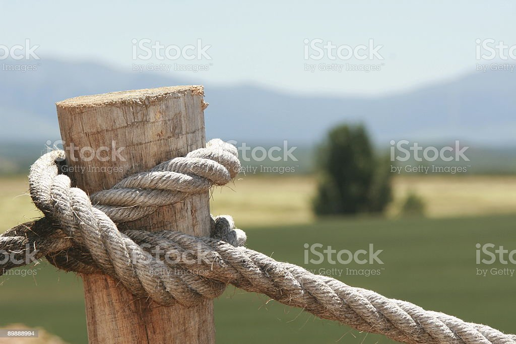The knot. Country activities atractive background. stock photo