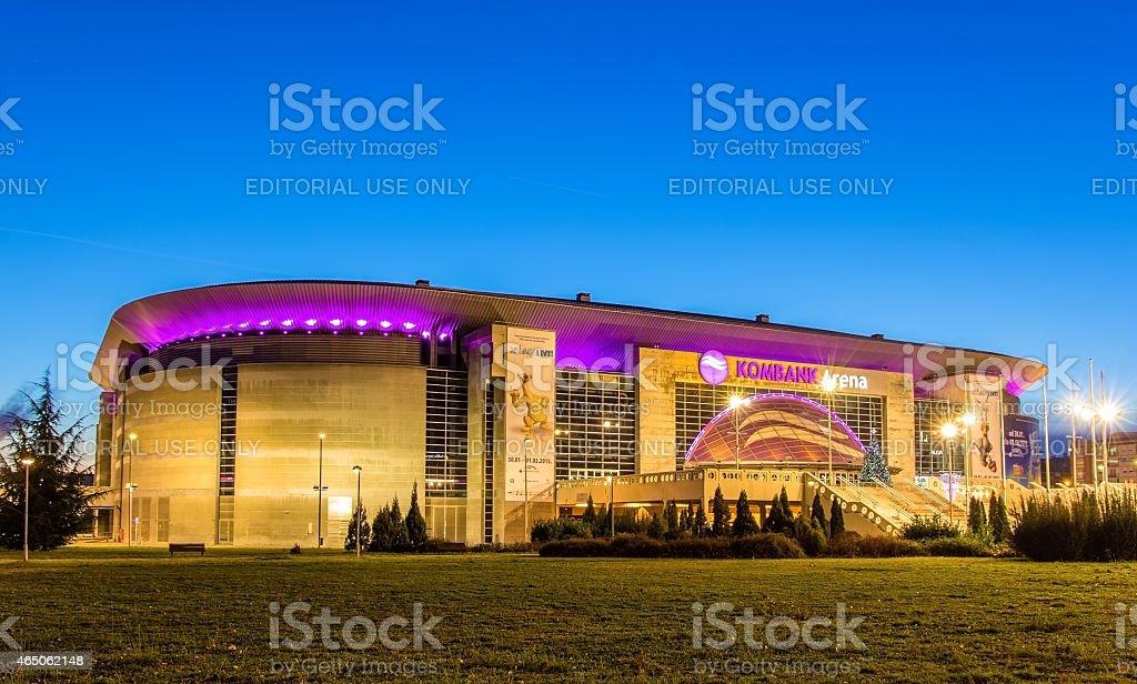 The Kombank arena in Belgrade stock photo