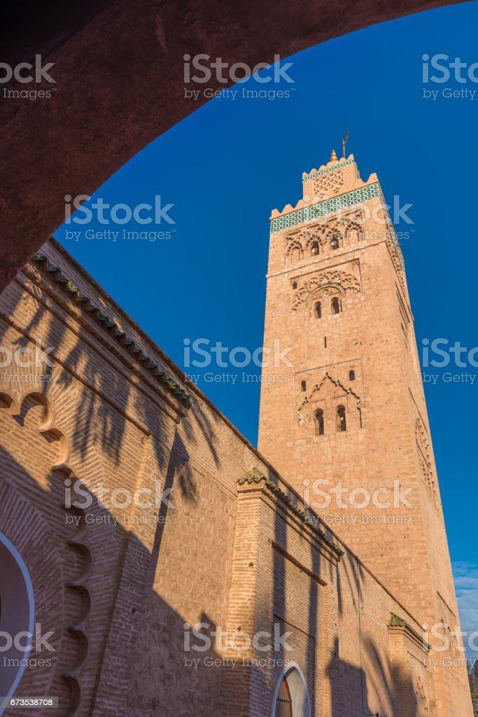 The Koutoubia Mosque, Marrakesh, Morocco stock photo