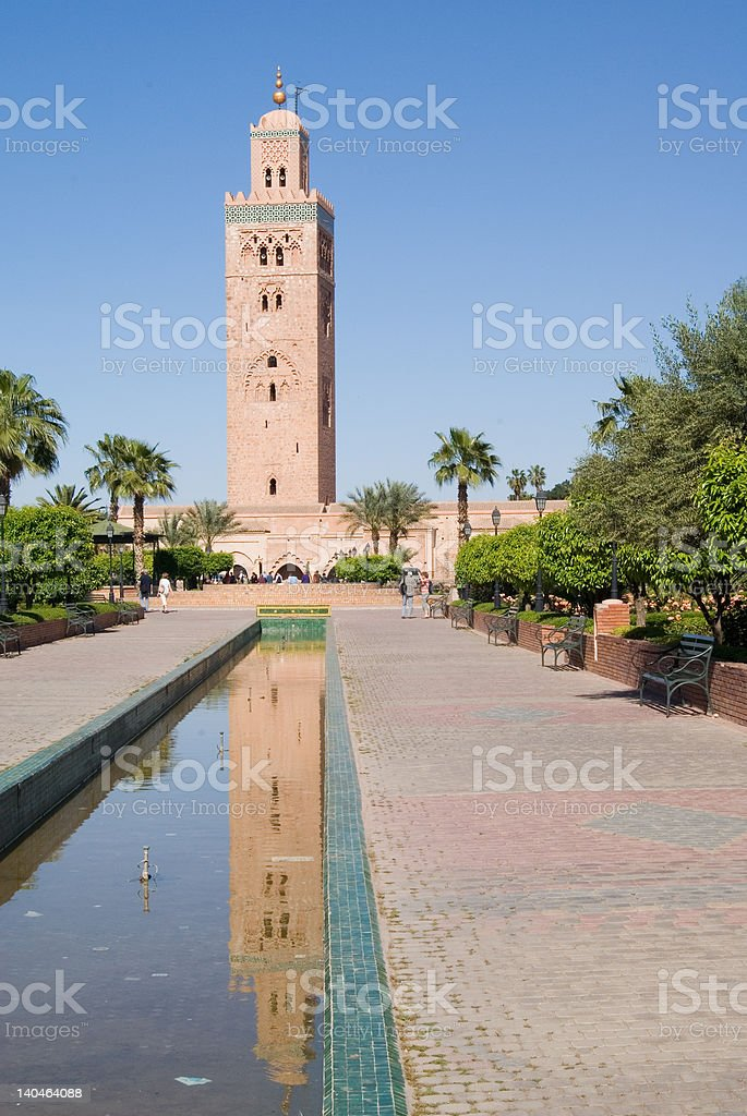 The Koutubia mosque in Marrakech royalty-free stock photo
