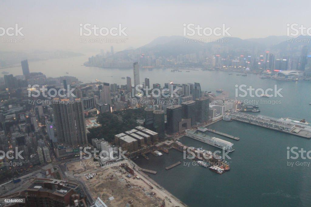 the Kowloon, Hong Kong Skyline stock photo