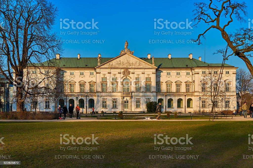 Warsaw, Poland - March 27, 2016:  The Krasinski Palace stock photo