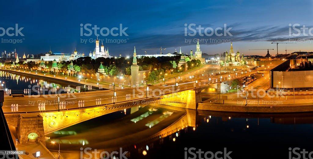 The Kremlin at night royalty-free stock photo