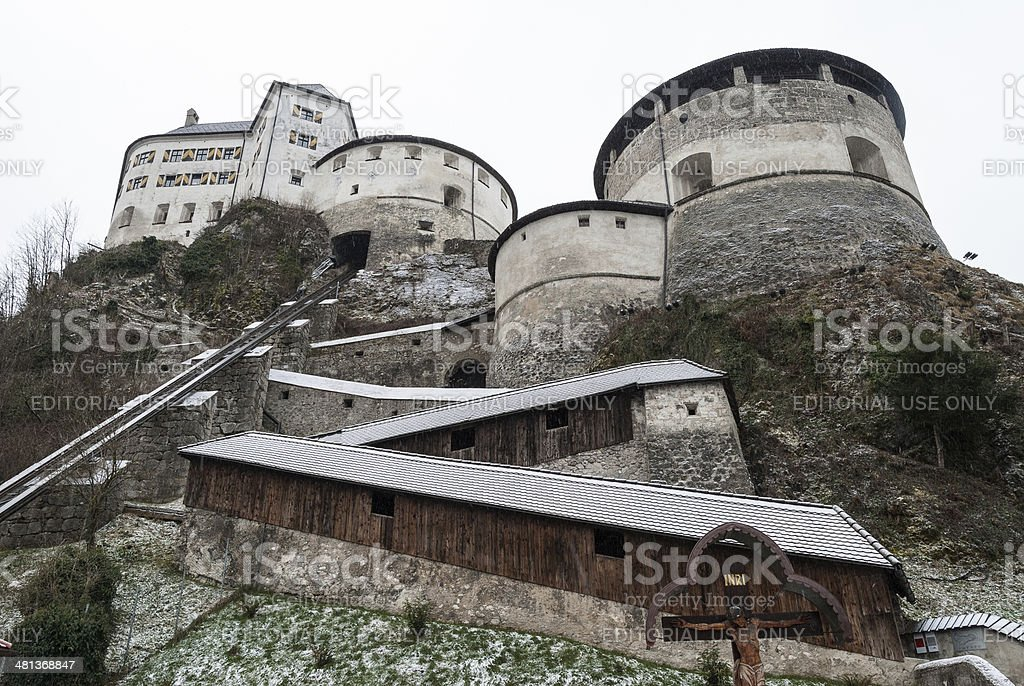 The Kufstein Fortress, Austria royalty-free stock photo