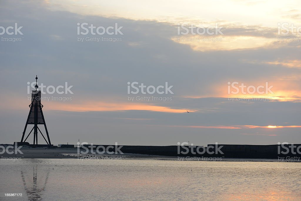 The Kugelbarke near Cuxhaven Germany stock photo