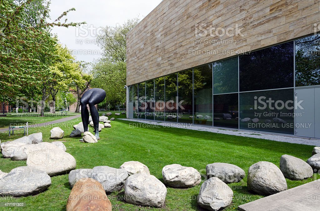 The Kunsthal museum in Museumpark, Rotterdam stock photo
